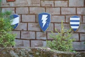 DIY blue-white shields