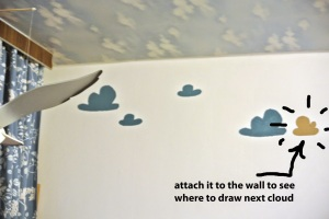 attach cloud to the wall