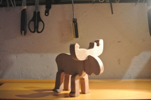 a wooden moose perfect present for baby DIY
