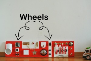 wheels activity board
